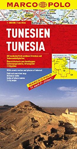 MARCO POLO Kontinentalkarte Tunesien 1:800.000: Wegenkaart 1:800 000 (MARCO POLO Kontinental-/Länderkarten)