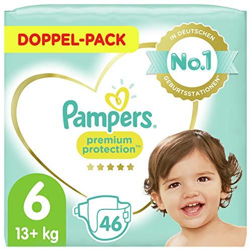 Pampers Baby Windeln Größe 6 (13-18kg) Premium Protection, 46 Stück, Pampers Weichster Komfort Und Schutz