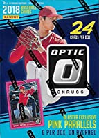 2018 Donruss OPTIC Baseball Series Unopened Blaster Box of Packs including 6 EXCLUSIVE Pink Parallel Cards plus Chance for Shohei Otani Rookies, Autographs and more