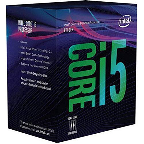 Intel Core i5-8600K - Procesador (up to 4.30 GHz, 8ª generación de procesadores Intel Core i5, 3,6 GHz, LGA 1151 (Socket H4), PC, 14 nm,  9MB Smart Cache) (Reacondicionado)