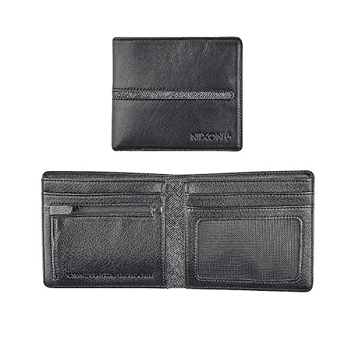 Nixon Coastal Showdown Bi-Fold Zip Wallet Monedero, Negro  (Negro) - C2519000-00