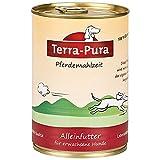 TERRA-PURA Tiernahrung Comida para caballos, carne de caballo, mijo ecológico, zanahorias, manzanas orgánicas, sin gluten, comida húmeda para perros sensibles, 400 g, 12 unidades