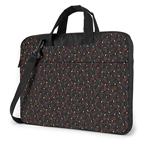 Stranger Thing 15.6 Inch Canvas Laptop Messenger Bag, Laptop Sleeve Case with Adjustable Shoulder Strap, Laptop Briefcase
