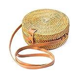 GULEHAY Handgewebte Rattantaschen, handgemachte Bali Batik Stroh Umhängetasche Perfekt für Sommer Strand Geldbörse und Handtaschen