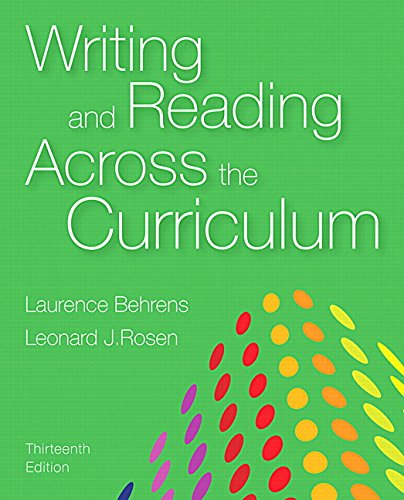 Writing and Reading Across the Curriculum (13th Edition)