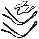 MINGZE Retenedor Correa de gafas ajustables, Correa del sostenedor de los lentes de los deportes, Gafas de seguridad Correa del acollador de la secuencia del cordón del cuello de las gafas, Set de 5