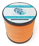 Reaction Tackle Braided Fishing Line Hi Vis Orange 30LB 1000yds