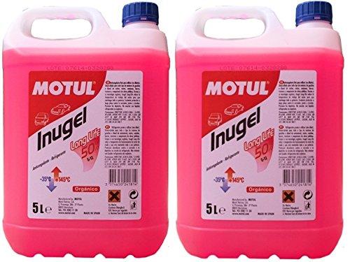 MOTUL Anticongelante Refrigerante Motor Inugel Long Life 50% G12,10 litros (2x5 lts),...