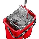 Autoclean Mop Seau et Balai Essoreur EasyClean + Recharge Lingette Microfibre Offerte - Garantie Excellente Qualité !