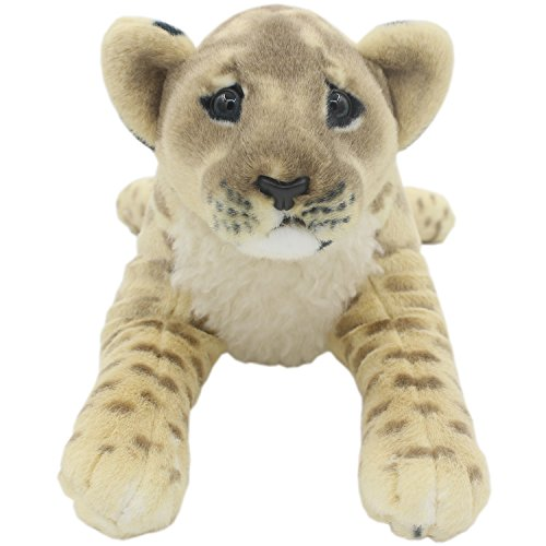 TAGLN The Jungle Animals Stuffed Plush Toys Lion Tiger Leopard Panther Pillows (Brown Lioness  16 Inch)