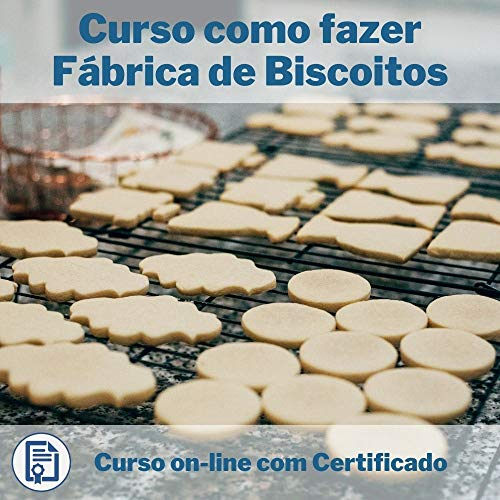Curso Online em videoaula de como fazer Fábrica de Biscoitos com Certificado + 2 brindes