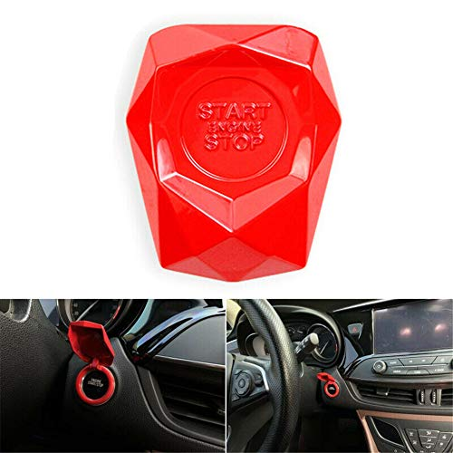 Car SUV Engine Start Stop Push Button Decor Cover Lgnition Switch Protection Red