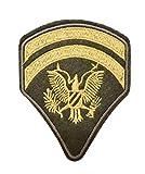 Patch Galon 2 Chevron Ejército Militar, Parche termoadhesivo águila ejército Grado de caporal para Personalizar la Ropa, 7,5 cm x 6 cm