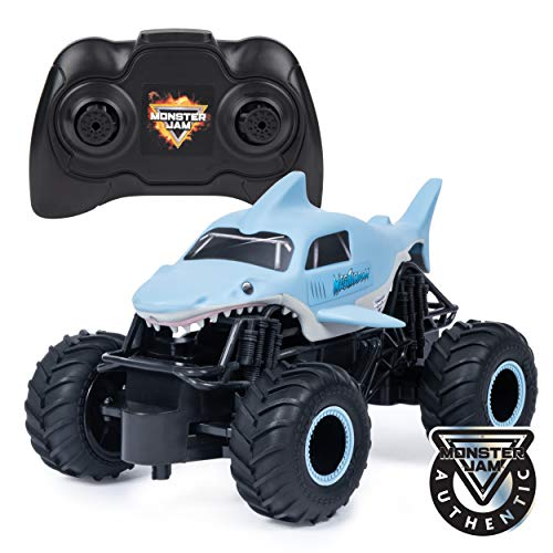 Monster Jam Official Megalodon Remote Control Monster Truck 1:24 Scale 24 GHz for Ages 4 and Up