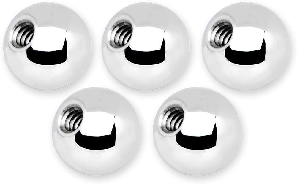 16 Gauge 5mm Stainless Steel Replacement Ball Bonus Back