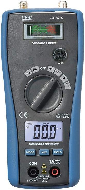 CEM LA-1016 2 5 ☆ popular in 1 Satellite DC New mail order Finder Voltage DMM AC Measure