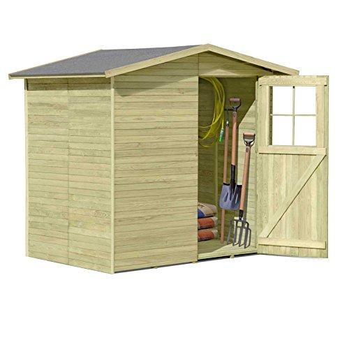 Holzgerätehaus für Gartenhaus umfunktionieren als Toilettenhaus: 1,8m x 1,8m und 2,10m hoch.