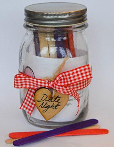 Date Nuit Pot – Romance et Fun pour couples cadeau ruban rouge avec bâtonnets Rouge/Violet/uni