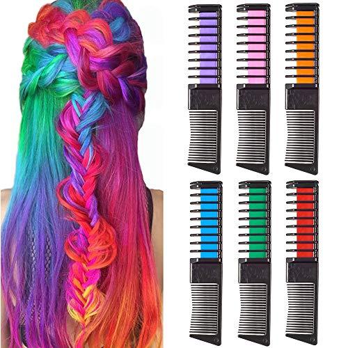 SIGHTLING - Set di gessetti per capelli temporanei, non tossici, lavabili, con scialle, per feste di bambini e cosplay, funziona su tutti i colori dei