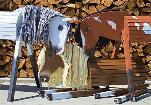 Holzpferd Gartenpferd (Helga Kreft) Tinas-Edelpferd Traumpferd -Spielpferd zum reiten-