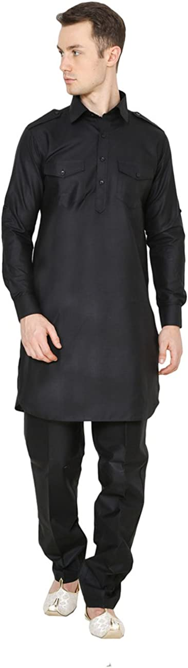 Royal Indian Traditional Festive Men's Linen Pathani Suit