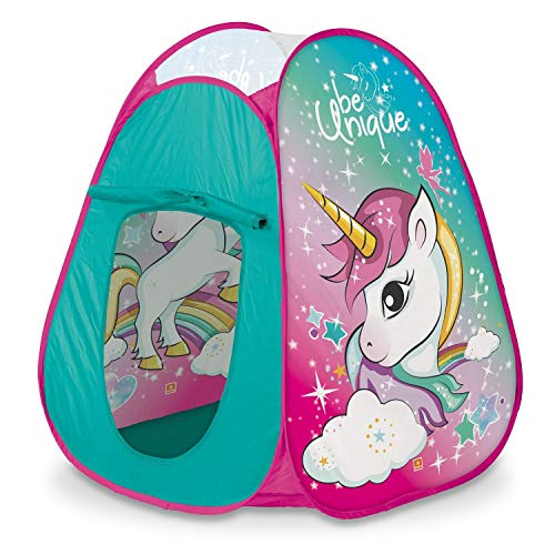 Mondo Toys - Unicorn Pop-Up Tent - Tenda da gioco per bambino / bambina - facile da montare / easy to open - borsa per trasporto INCLUSA - 28520
