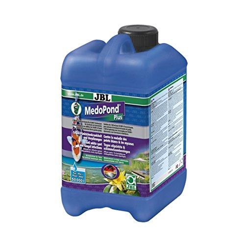 JBL MedoPond Plus 27146 Heilmittel gegen Pünktchenkrankheit und Verpilzung bei Teichfischen, 2,5 l