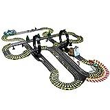 LINGLING Slot Car Vehicle Race Sets Track Racing Toy Coche de Control Remoto eléctrico Gran Juego Interactivo Entre Padres e Hijos Niño de 6 años Regalo de cumpleaños/Navidad