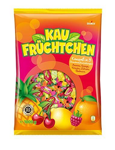 Kau Früchtchen (1 x 1kg ) / Kaubonbons mit fruchtigen Geschmacksrichtungen