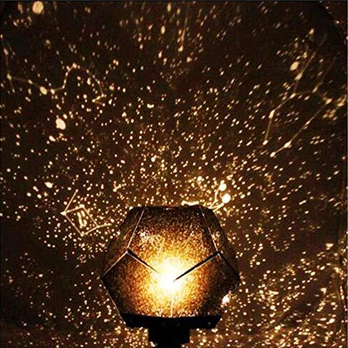 Leilims Proyector de la Estrella del proyector Ligero Noche mágica llevó la lámpara Astro Starlight Galaxy Estrella luz de la Noche decoración del Dormitorio for niños y Regalo Blanco