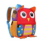 Children's Backpack, TEAMEN® Toddler Kids School Bag, Animal Design, Kinder Racksack for 2-5 Years Old(owl)