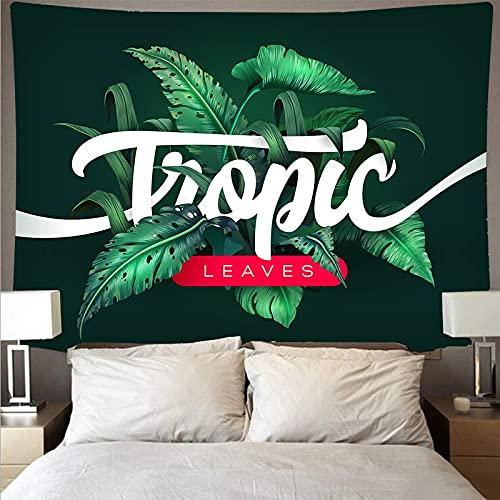 Tapiz de planta verde hoja de palmera tropical colgante de pared tapiz de flor grande arte tela de pared tapiz tela de fondo A6 130x150cm