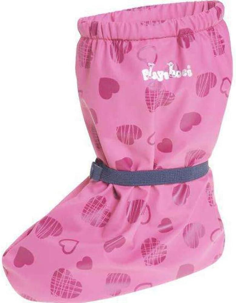 Playshoes Cubrebotas de Lluvia con Forro Corazones Cubrecalzado Impermeable Unisex beb/é