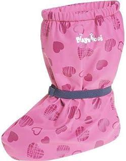Playshoes, Cubrebotas de Lluvia con Forro Corazones, Cubrecalzado Impermeable Unisex bebé