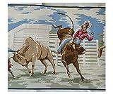 Wallpaper Border Western Cowboy Broncos Roping