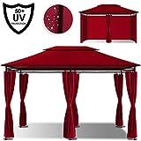 Kesser® - Pavillon 3x4m inkl. Seitenwände mit Reißverschlüsse, Eckig Festzelt Partyzelt...