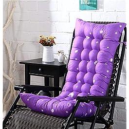 erddcbb Épaissir Lounger Chaise Coussin Rocking Chair Pad Coussin De Chaise en Rotin Pliable pour Bureau À Domicile…