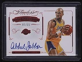 2014-15 Panini Flawless Kareem Abdul-Jabbar Super Signatures Autograph Auto