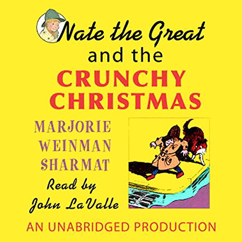 Nate the Great and the Crunchy Christmas audiobook cover art