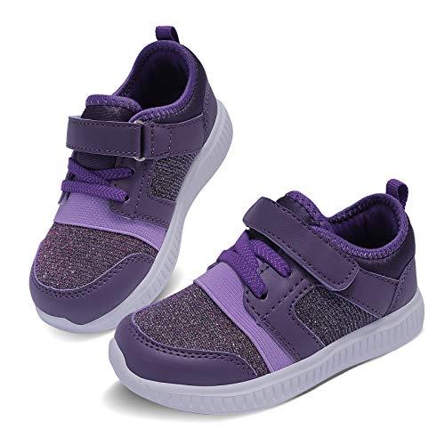 yuanxiang Zapatillas de deporte para niña con purpurina, para correr, para interiores, tenis, color, talla 33 EU