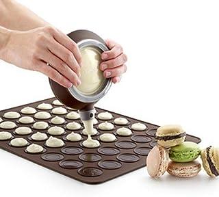 LLAAIT Silicone Macaron pâtisserie Four Cuisson Moule Feuille Tapis 30 cavités Bricolage Moule Cuisson Tapis TUE88, Couleu...