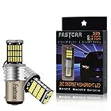 2x 1157 Lampadine LED BAY15D P21/5W per Auto Moto Fanalini Direzionali Luce di Parcheggio 2057 2357 6000K 4014 45SMD Bianco 12V 24V