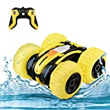 SGOTA Waterproof Stunt RC Car,4WD Amphibious Remote Control Car Boat Double Sided Driving