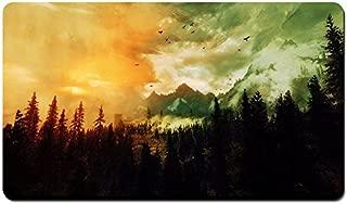 The Elder Scrolls Skyrim, Landscape, Forest - Large Gaming Mouse Pad - Tabletop Mat - 23.6