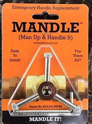 """Universal Plumbing Repair Handle- Emergency Valve Handle Replacement-One Handle FITS ALL VALVES!""""THE MANDLE"""""""