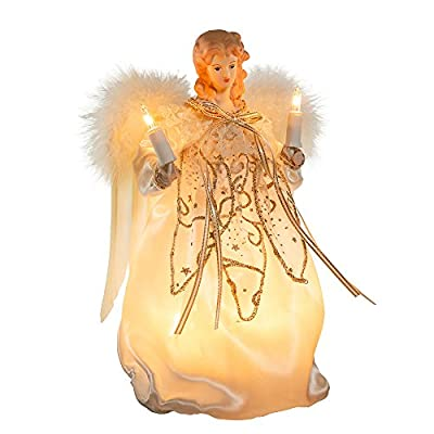 Lighted Christmas Angel TreeTopper for Ornament Collectors