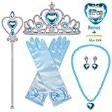 The princess elsa cosplay accessories set is perfect for various princess cosplay parties,girls birthday parties,halloween party,dress up games,stage performance,do also great as a gift for your daughter & granddaughter. The princess elsa accessories...