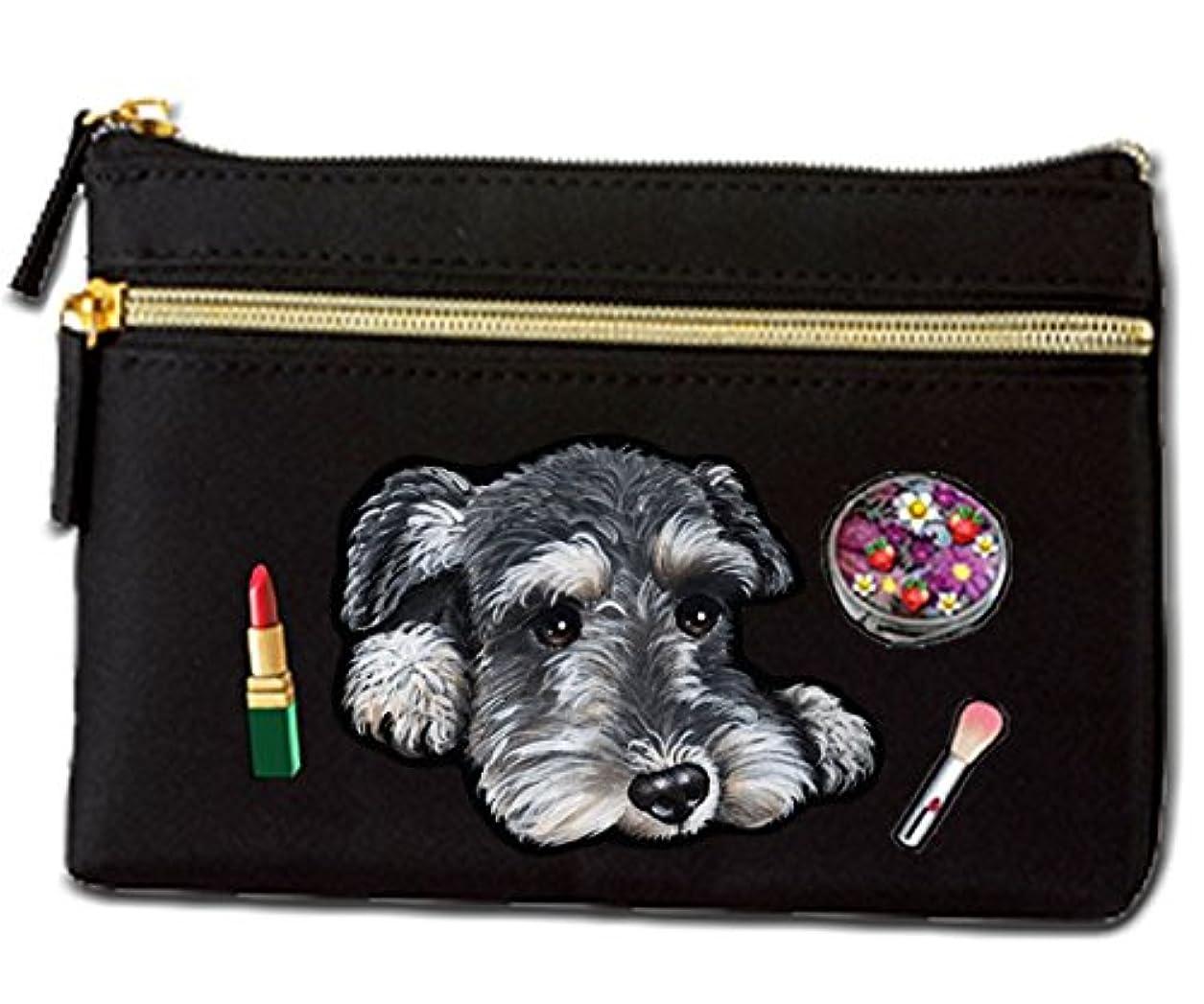 トランクライブラリシフト利点犬 ポーチ / シュナウザー10/ミニチュアシュナウザー/雑貨/グッズ/オリジナル