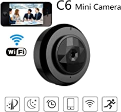 Mini Hidden Camera WiFi Spy Camera Wireless Home Security Video Camcorder System Micro Mini Camera Surveillance with Smartphone App Video Recording IP Micro Camcorder Motion Detection P2P Car DVR