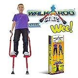 Geospace Original Walkaroo 'Wee' Balance Stilts Beginners, Little Kids (Ages 4 up) (Red)